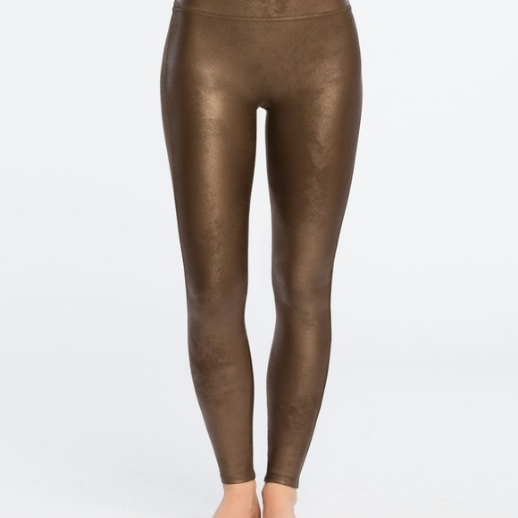 fc5942aeeb1 Spanx faux leather leggings